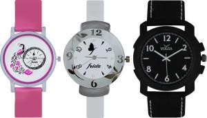 Frida Designer VOLGA Beautiful New Branded Type Watches Men and Women Combo637 VOLGA Band Analog Watch  - For Couple