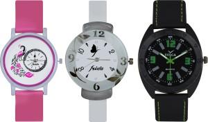 Frida Designer VOLGA Beautiful New Branded Type Watches Men and Women Combo641 VOLGA Band Analog Watch  - For Couple