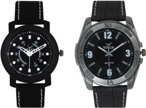 Volga Branded Leather Quality Designer Dial Diwali Special Combo279 Designer Sport Looks WaterProof Mens Watch Watch  - For Men