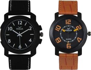 Volga Branded Leather Quality Designer Dial Diwali Special Combo237 Designer Sport Looks WaterProof Mens Watch Analog Watch  - For Men