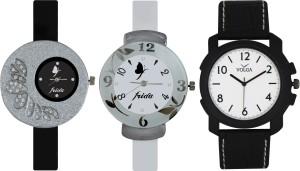 Frida Designer VOLGA Beautiful New Branded Type Watches Men and Women Combo377 VOLGA Band Analog Watch  - For Couple