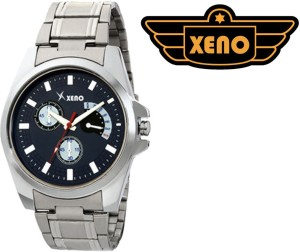 Xeno BN21 Day Date Type Chronograph Pattern Silver Metal Blue Dial New Look Fashion Stylish Modish Analog Watch  - For Men