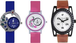Volga Designer FVOLGA Beautiful New Branded Type Watches Men and Women Combo117 VOLGA Band Analog Watch  - For Couple