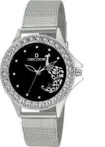 Decode Ladies gem Studded-LR020 Black Analog Watch  - For Girls