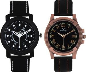Volga Branded Leather Quality Designer Dial Diwali Special Combo268 Designer Sport Looks WaterProof Mens Watch Analog Watch  - For Men