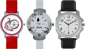 Frida Designer VOLGA Beautiful New Branded Type Watches Men and Women Combo746 VOLGA Band Analog Watch  - For Couple