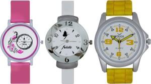 Frida Designer VOLGA New Branded Type Watches Men and Women Combo633 VOLGA Frida Couple Analog Watch  - For Couple