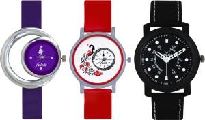 Frida Designer VOLGA Beautiful New Branded Type Watches Men and Women Combo675 VOLGA Band Analog Watch  - For Couple