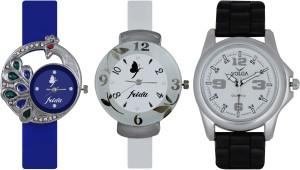 Frida Designer VOLGA Beautiful New Branded Type Watches Men and Women Combo519 VOLGA Band Analog Watch  - For Couple