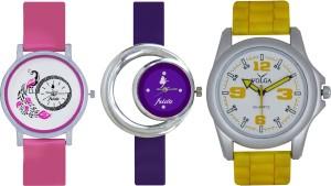 Frida Designer VOLGA Beautiful New Branded Type Watches Men and Women Combo559 VOLGA Band Analog Watch  - For Couple
