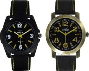 Volga Branded Leather Quality Designer Dial Diwali Special Combo331 Designer Sport Looks WaterProof Mens Watch Analog Watch  - For Men