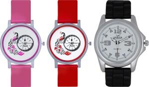 Frida Designer VOLGA Beautiful New Branded Type Watches Men and Women Combo593 VOLGA Band Analog Watch  - For Couple