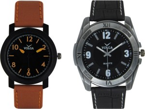 Volga Branded Leather Quality Designer Dial Diwali Special Combo381 Designer Sport Looks WaterProof Mens Watch Analog Watch  - For Men