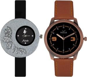 Frida Designer VOLGA Beautiful New Branded Type Watches Men and Women Combo15 VOLGA Band Analog Watch  - For Couple