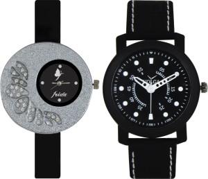Frida Designer VOLGA Beautiful New Branded Type Watches Men and Women Combo9 VOLGA Band Analog Watch  - For Couple
