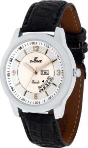 Dezine DZ-GR692-WHT-BLK Day Date Analog Watch  - For Men