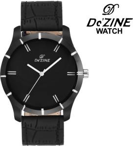 Dezine Black Collection-GR075Black Analog Watch  - For Boys