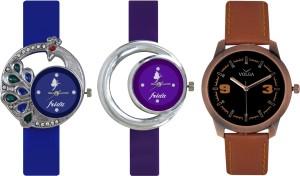 Frida Designer VOLGA Beautiful New Branded Type Watches Men and Women Combo459 VOLGA Band Analog Watch  - For Couple