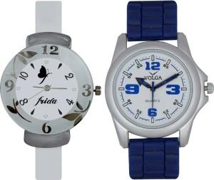 Frida Designer VOLGA Beautiful New Branded Type Watches Men and Women Combo187 VOLGA Band Analog Watch  - For Couple