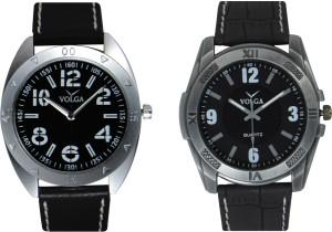 Volga Branded Leather Quality Designer Dial Diwali Special Combo591 Designer Sport Looks WaterProof Mens Watch Analog Watch  - For Men