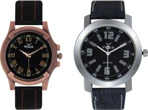 Volga Branded Leather Quality Designer Dial Diwali Special Combo463 Designer Sport Looks WaterProof Mens Watch Analog Watch  - For Men