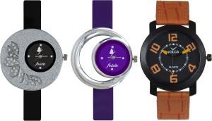 Frida Designer VOLGA Beautiful New Branded Type Watches Men and Women Combo310 VOLGA Band Analog Watch  - For Couple