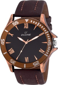 Dezine ROMAN FIGURE-GR444-BLACK Analog Watch  - For Men