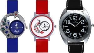 Frida Designer VOLGA Beautiful New Branded Type Watches Men and Women Combo506 VOLGA Band Analog Watch  - For Couple