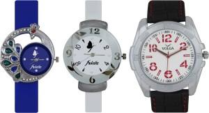 Frida Designer VOLGA New Branded Type Watches Men and Women Combo541 VOLGA Frida Couple Analog Watch  - For Couple
