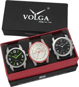 Volga VLW05-26-42-35 Mens Leather Belt Combo With Designer Stylish Branded box Analog Watch  - For Men