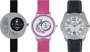 Frida Designer VOLGA Beautiful New Branded Type Watches Men and Women Combo277 VOLGA Band Analog Watch  - For Couple