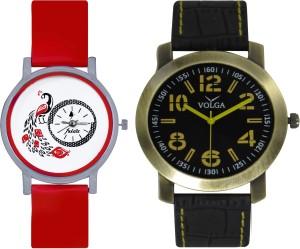 Frida Designer VOLGA Beautiful New Branded Type Watches Men and Women Combo175 VOLGA Band Analog Watch  - For Couple