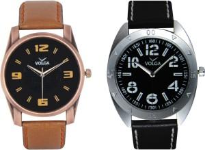 Volga Branded Leather Quality Designer Dial Diwali Special Combo444 Designer Sport Looks WaterProof Mens Watch Analog Watch  - For Men