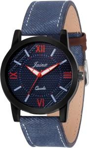 Jainx JM226 Blue Denim Multi Color Dial Analog Watch  - For Men
