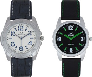 Volga Branded Leather Quality Designer Dial Diwali Special Combo478 Designer Sport Looks WaterProof Mens Watch Analog Watch  - For Men