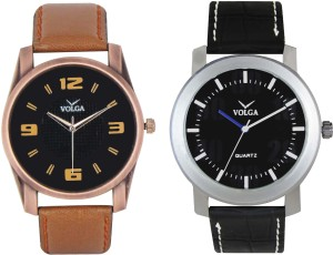 Volga Branded Leather Quality Designer Dial Diwali Special Combo452 Designer Sport Looks WaterProof Mens Watch Analog Watch  - For Men