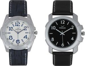 Volga Branded Leather Quality Designer Dial Diwali Special Combo487 Designer Sport Looks WaterProof Mens Watch Analog Watch  - For Men