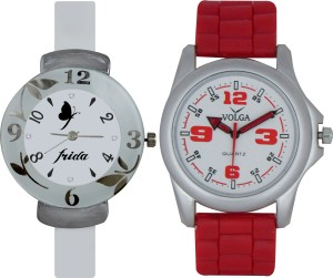 Frida Designer VOLGA Beautiful New Branded Type Watches Men and Women Combo188 VOLGA Band Analog Watch  - For Couple