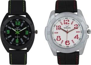 Volga Branded Leather Quality Designer Dial Diwali Special Combo352 Designer Sport Looks WaterProof Mens Watch Analog Watch  - For Men