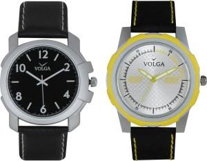Volga Branded Leather Quality Designer Dial Diwali Special Combo638 Designer Sport Looks WaterProof Mens Watch Analog Watch  - For Men