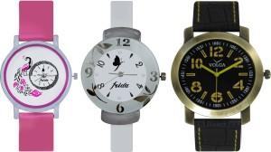 Frida Designer VOLGA Beautiful New Branded Type Watches Men and Women Combo656 VOLGA Band Analog Watch  - For Couple