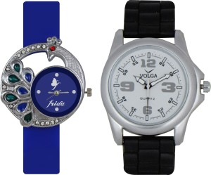 Frida Designer VOLGA Beautiful New Branded Type Watches Men and Women Combo38 VOLGA Band Analog Watch  - For Couple