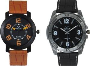 Volga Branded Leather Quality Designer Dial Diwali Special Combo404 Designer Sport Looks WaterProof Mens Watch Analog Watch  - For Men