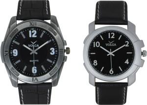 Volga Branded Leather Quality Designer Dial Diwali Special Combo622 Designer Sport Looks WaterProof Mens Watch Analog Watch  - For Men