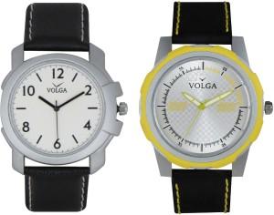 Volga Branded Leather Quality Designer Dial Diwali Special Combo201 Designer Sport Looks WaterProof Mens Watch Analog Watch  - For Men