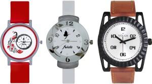 Volga Designer FVOLGA Beautiful New Branded Type Watches Men and Women Combo189 VOLGA Band Analog Watch  - For Couple