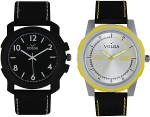 Volga Branded Leather Quality Designer Dial Diwali Special Combo260 Designer Sport Looks WaterProof Mens Watch Analog Watch  - For Men