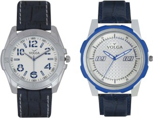 Volga Branded Leather Quality Designer Dial Diwali Special Combo493 Designer Sport Looks WaterProof Mens Watch Analog Watch  - For Men