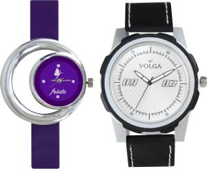 Volga Designer FVOLGA Beautiful New Branded Type Watches Men and Women Combo56 VOLGA Band Analog Watch  - For Couple