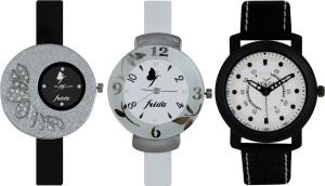 Frida Designer VOLGA Beautiful New Branded Type Watches Men and Women Combo380 VOLGA Band Analog Watch  - For Couple